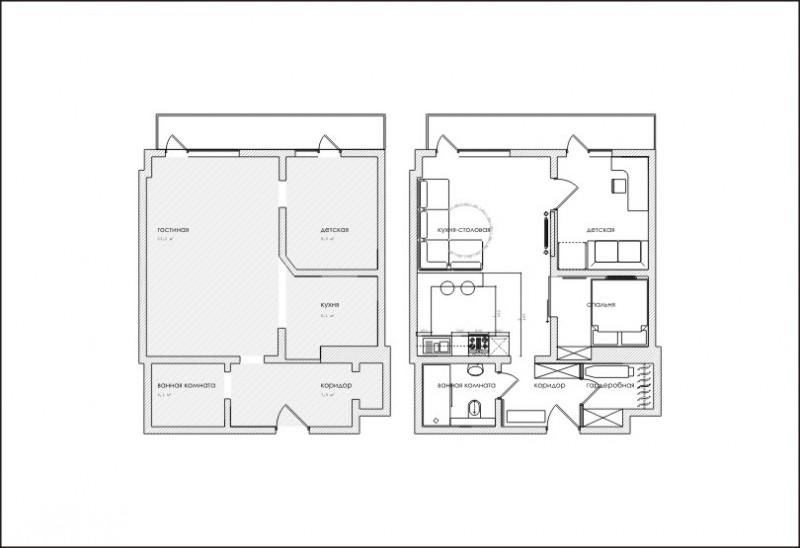 Квартира свободной планировки перепланировка